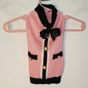 XS Pink Faux Pearl Bow Posh Apparel for Classy Pet